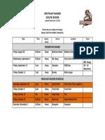 Schedule Update Sept 17