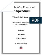 3rd Edition - Arcane Creations - Voadams Mystical Compendium Vol 1 - Spell Mastery