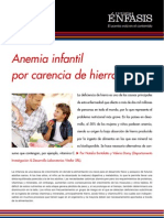 Anemia infantil por carencia de hierro