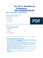 presaber ecuaciones diferenciales