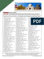 Top 100 Checklist