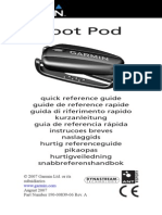 Garmin 1293 Foot Pod Reference Guide