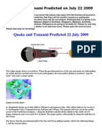 Tsunami Expected on 22july09