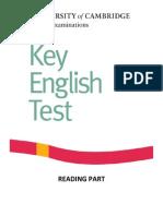 KET+Reading+Test
