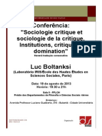 Flyer Conferencia Luc Boltanksi