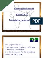 Guidelines for prescription drug marketing in India-OPPI