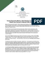 County Executive McCoy, Safe Sleeping Task Force and Health Care Partners Celebrate Safe Sleep Day