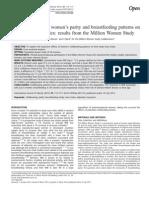Efeitos Da Paridade e Aleitamento Sobre IMC
