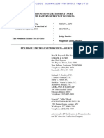 2013-09-05 BP Phase 2 Pre-Trial Memo - Source Control