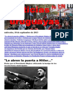 Noticias Uruguayas miércoles 18 de setiembre del 2013
