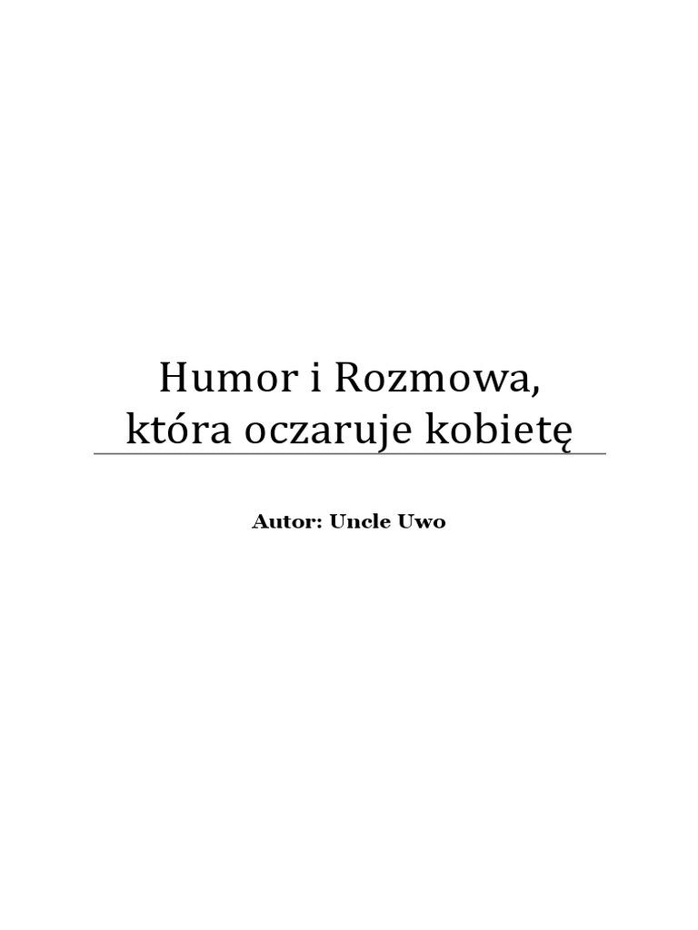 Humor i Rozmowa, ktĂłra oczaruje kobietÄ™ pdf