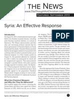 Syria an Effective Response