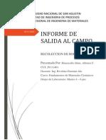 Informe de Salida Al Campo
