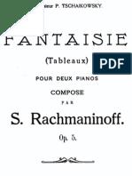 rachmaninov Fantasy Barcarole four hands