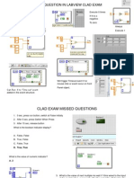 LabVIEW Mostly Missed Question in CLAD
