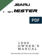 fORESTER 1999 Insturkcja