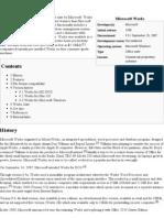 Microsoft Works - Wikipedia, The Free Encyclopedia