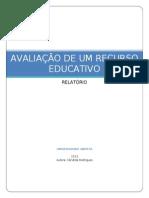 AVALIAÇÃO DE UM RECURSO EDUCATIVO
