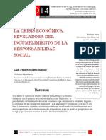 Icono14. Nº 12. La crisis económica, reveladora  del incumplimiento de la responsabilidad social corporativa