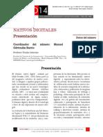 """Icono14. Nº 12. Presentación de """"Nativos Digitales"""""""