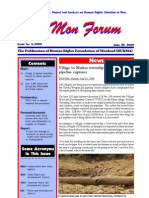 "MON ISSUE 6 Including report"" Accounts of abuse during strand road construction in Thanbyuzaya"""