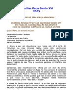 Homilias de Bento XVI - 2005.doc