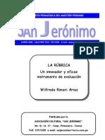 LA RÚBRICA instrumento de evaluacion Wilfredo Rimari