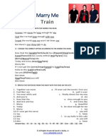 Marry Me by Train - Answer Key