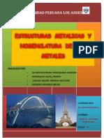 Monografia de Estructuras Metalicas y Nomenclatura de Los Aceros