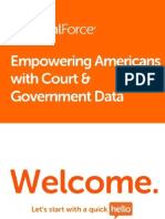 Empowering Americans with Court & Government Data
