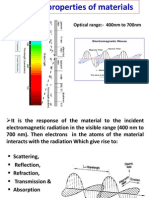 Optical Properties of Materials