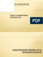 Modelo Educativo Socio Comunitario Productivo
