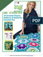 10 Crochet Flower Patterns and Butterfly Crochet Fun