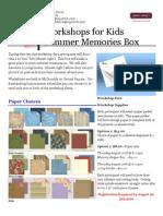 Summer memory Box Workshop
