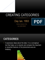 Creating Categories. Dey Ian. 1993