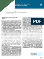 Autonomía y beneficencia en la ética clínica