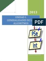 1. Unidad I GeneralidadesAlgoritmos2013