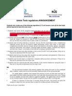 Online Test Regulation-new
