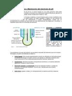 limpieza y Mantención del electrodo s de pH