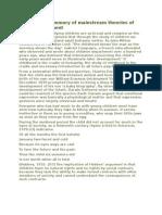 Summary of Mainstream Theories of Child Development