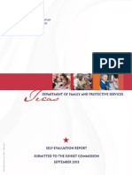 Texas Department of Family and Protective Services Self-Evaluation Report (Sep 2013)