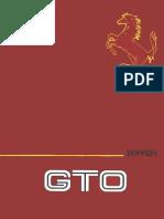 Ferrari GTO Owner's Manual