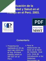 6. 03 Situacion de La SST en El Peru - MSST - MTPS V3 2003
