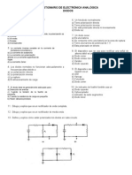 CUESTIONARIO DE ELECTRÓNICA ANALÓGICA (1)