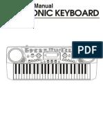 Electronic Keyboard MC-49 Manual