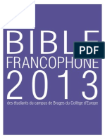 Bible Francophone 2013