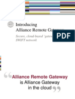 SWIFT Alliance Remote Gateway Presentation