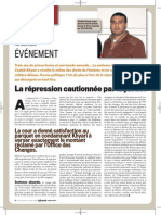"Article ""La Répression Cautionnée par la Justice"" - Saad Kadiri"