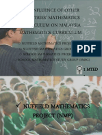 THE INFLUENCE OF OTHER COUNTRIES' MATHEMATICS CURRICULUM