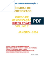 curso de memorização super power VOLUME 2